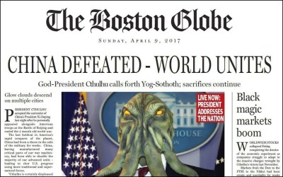 Boston Globe Leak: Cthulhu was original target not Donald Trump