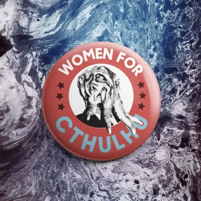 Women for Cthulhu Button