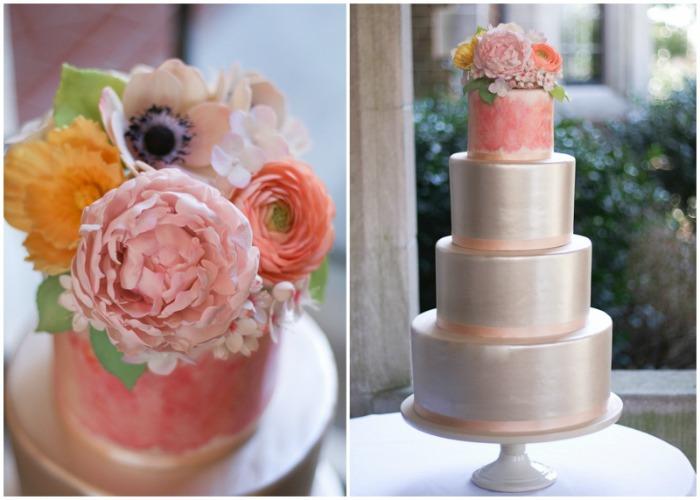 suagar-flowers cake