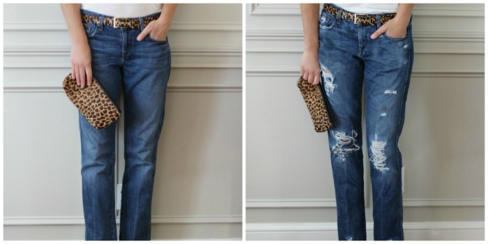 Before and After jeans
