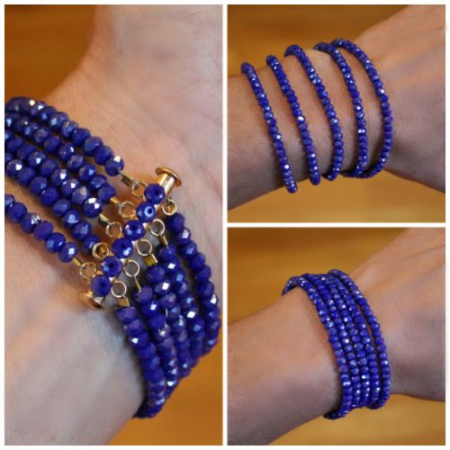 DIY Sparkly Bead Bracelets