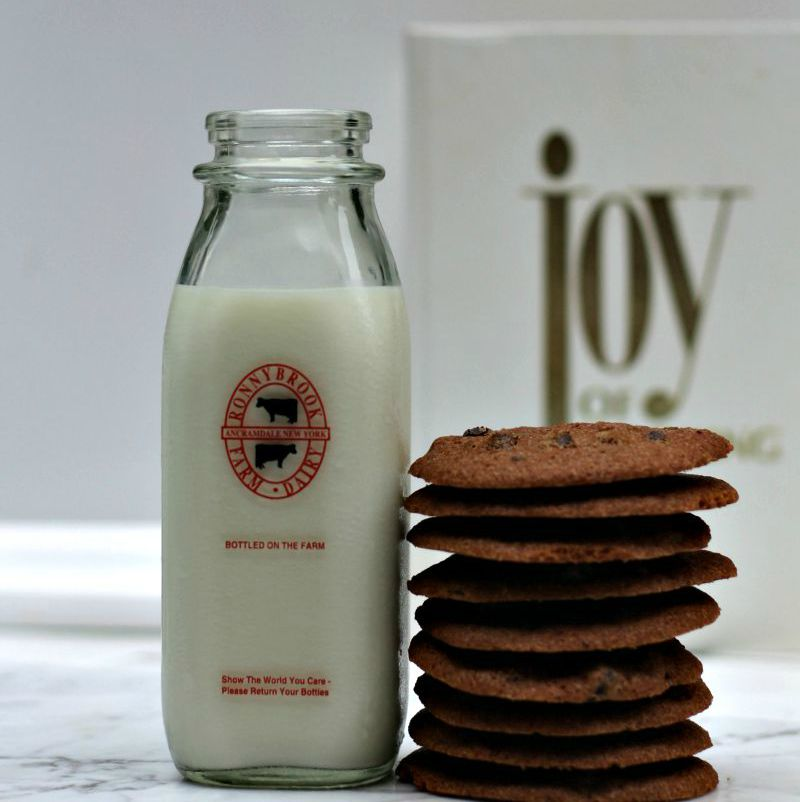 <chocolate cookies and milk image>