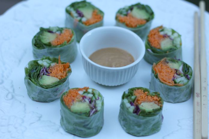 Cucumber and Avocado Rolls