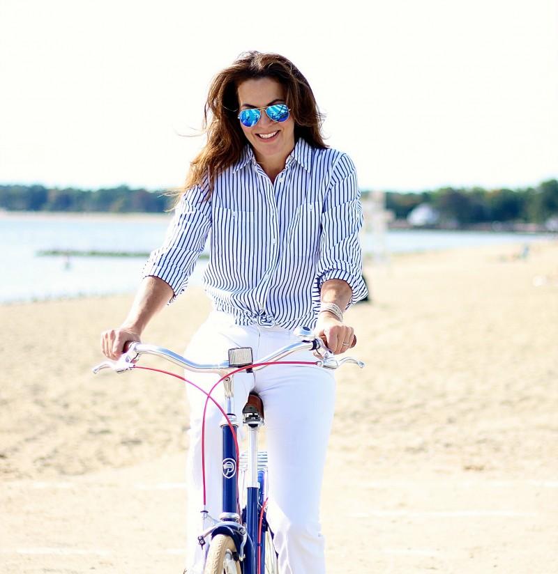 Ralph Lauren Blue and White Striped Shirt
