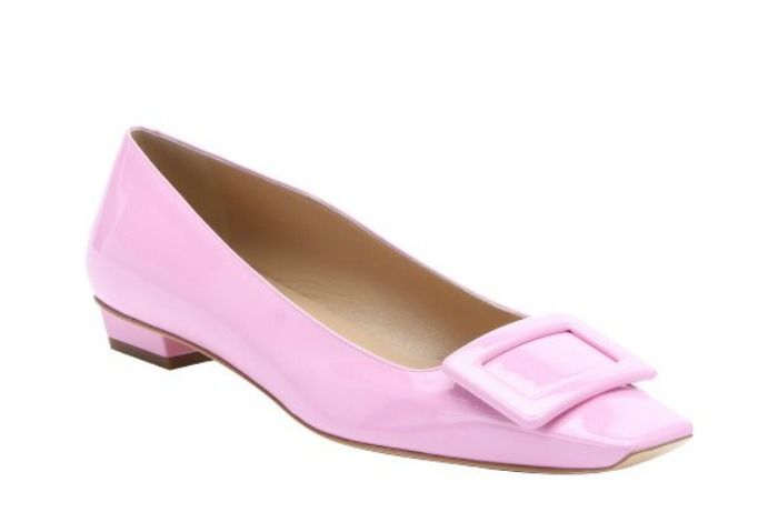 http://www.bluefly.com/roger-vivier-pink-patent-leather-buckle-ballerina-flats