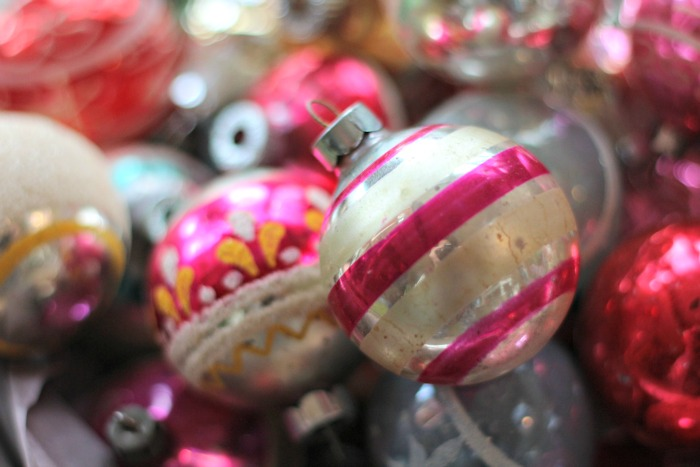 Pink and White Ornament
