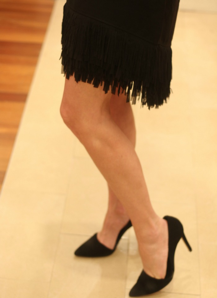 Black Fringe Bottom Dress detail 2