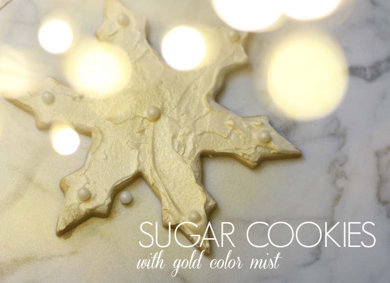 Sugar Cookies with Gold Color Mist