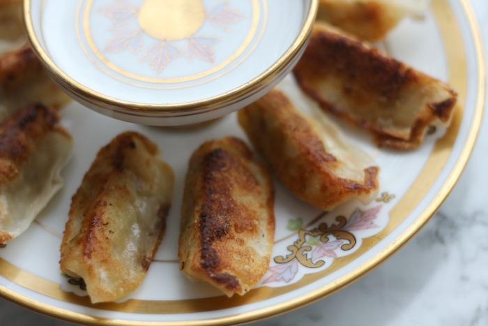 Gyoza on plate