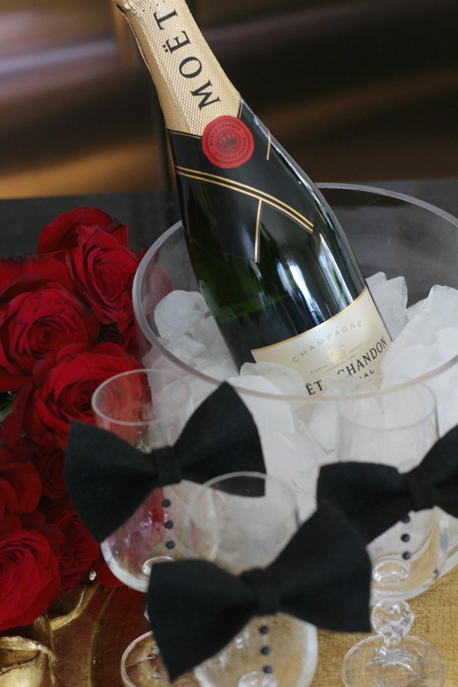 Tuxedo Champagne Glasses