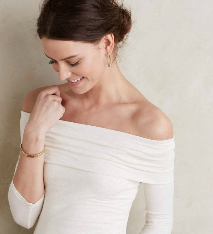 Off-the-Shoulder Cowl Tee
