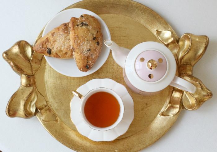 Top view of teapot