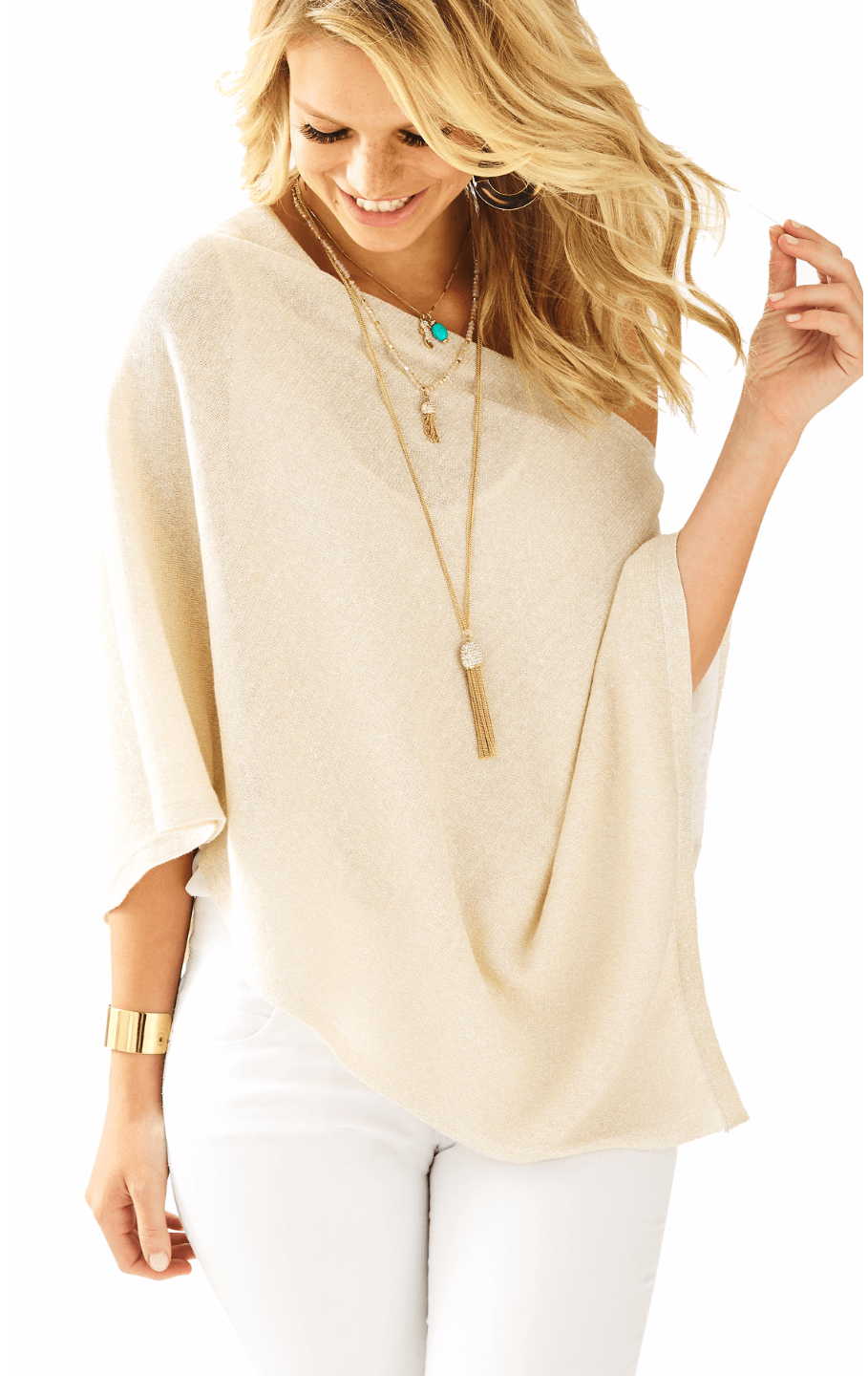 Bayshore Metallic Sweater Wrap