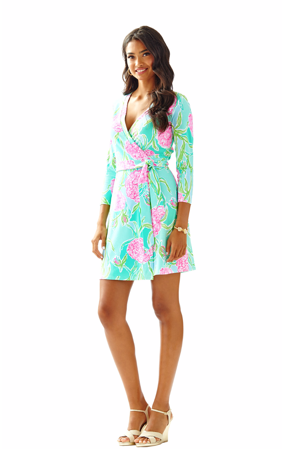Meridan Printed Wrap Dress