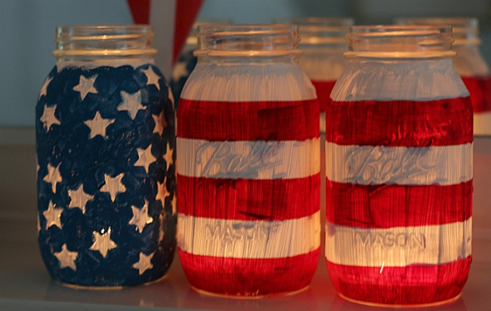 July 4th Mason Jars
