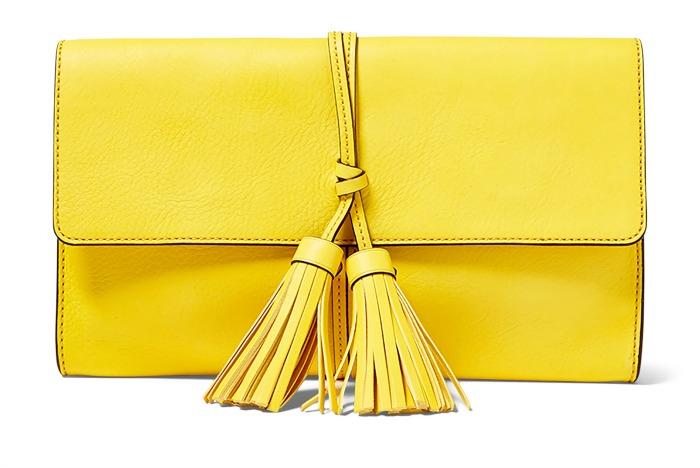 RL Yellow Tassel Clutch