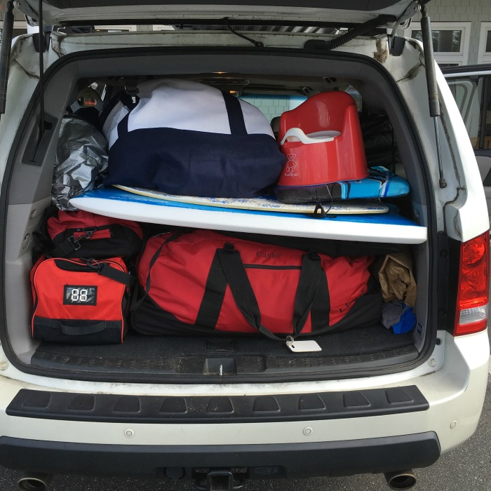 SUV packed