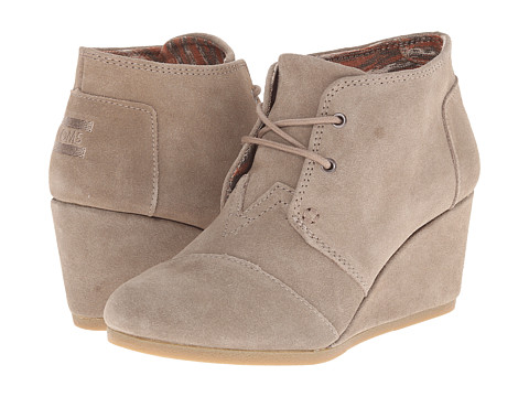 TOMS Dessert Taupe Suede