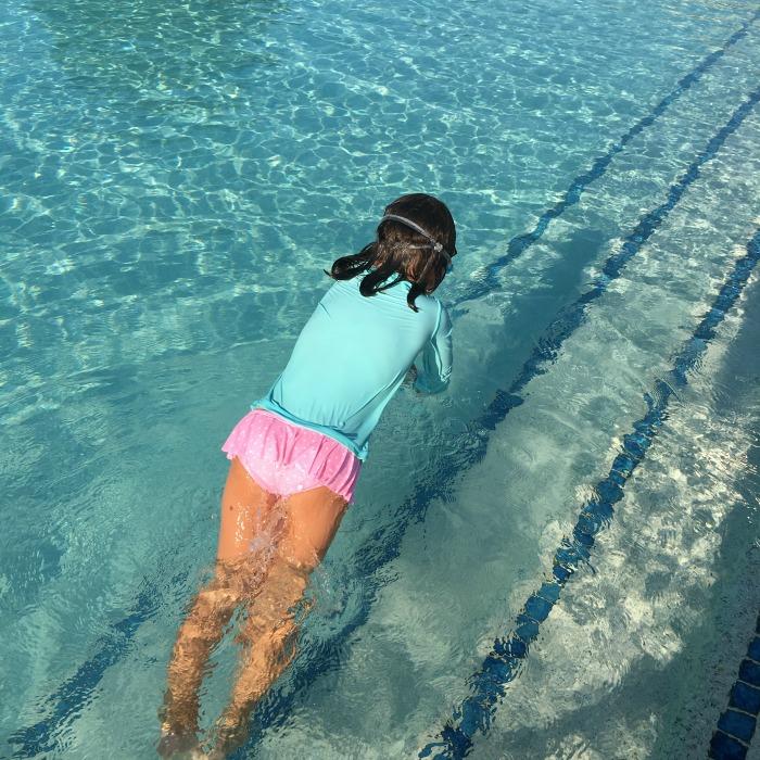 Catherine swimming