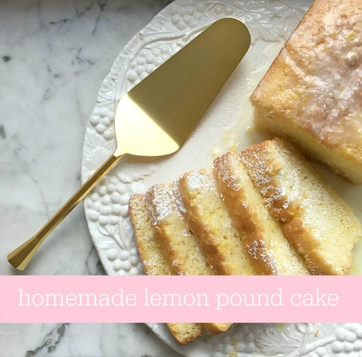 Homemade Lemon Pound Cake Pinterest