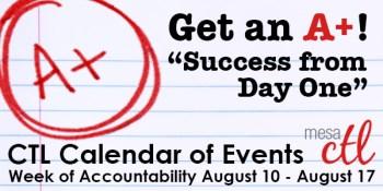 Fall 2013 Week of Accountability Schedule