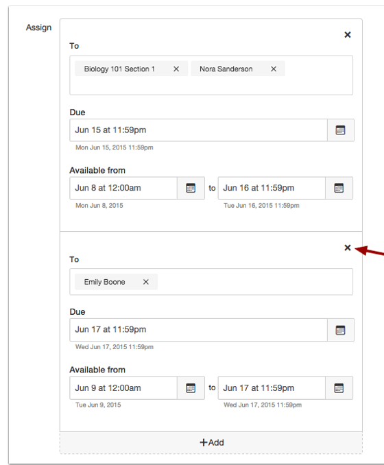 Canvas Differentiated Assignment Feature