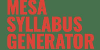 Mesa Syllabus Generator