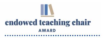 Endowed Teaching Chair Award