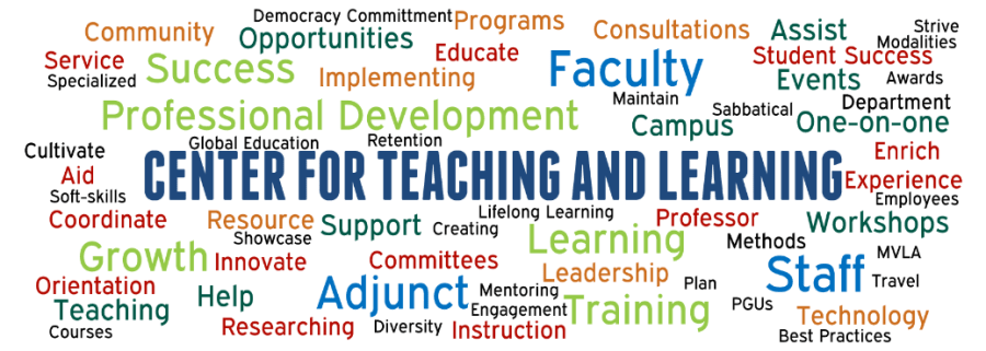 Mission & vision graphic for the Center for Teaching and Learning