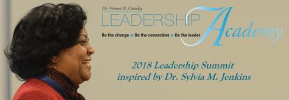 2018 Leadership Summit Logo with Dr. Jenkins' photo.