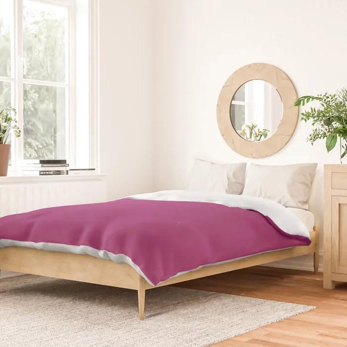 Orchid Flower Deep Pink Purple Solid Color 2022 Colour of the Year Duvet Cover. 2022 color trend - color scheme