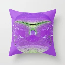 Circle in Mauve Throw Pillow