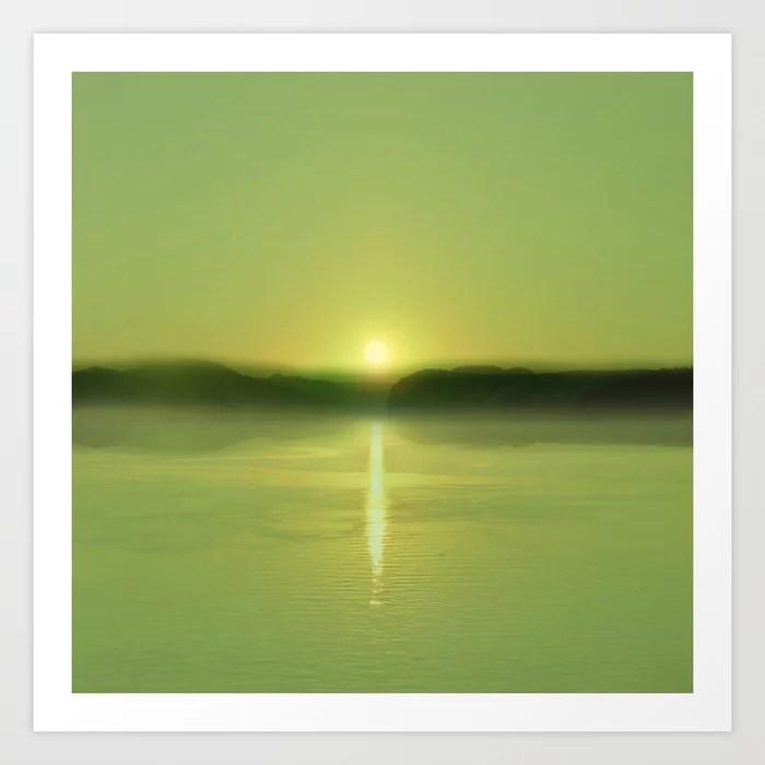 Sunday's Society6 | Greenery sunset art print