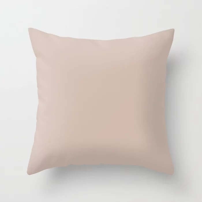 VA Rosy Mauve Pink / Blushing Bride Pink / Cathedral Morning Pink Colors of the year 2019 Throw Pillow