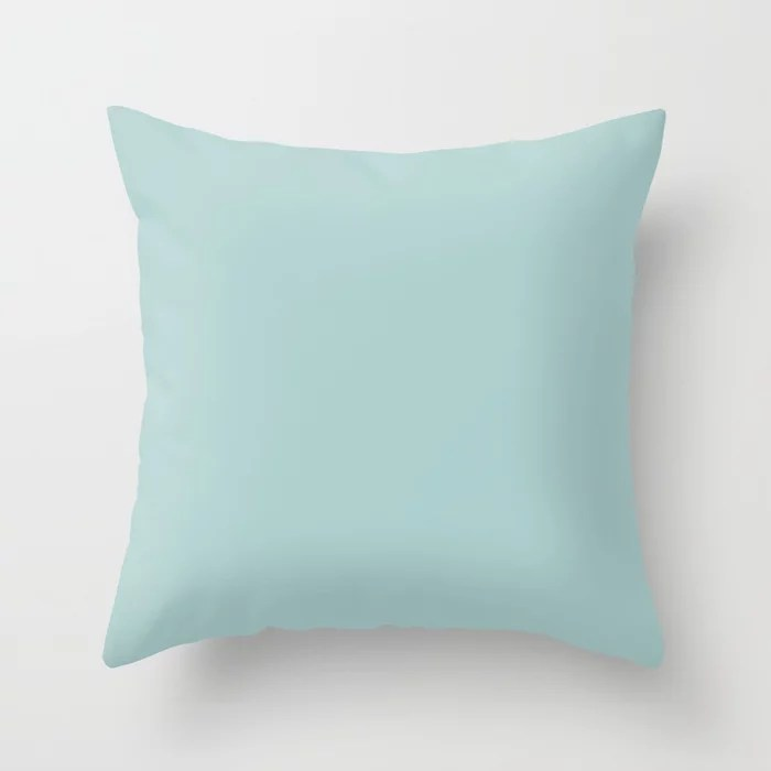 Pastel Blue Single Solid Color Pairs Rustoleum 2021 Color Of The Year Accent Shade Serenity Blue Throw Pillow