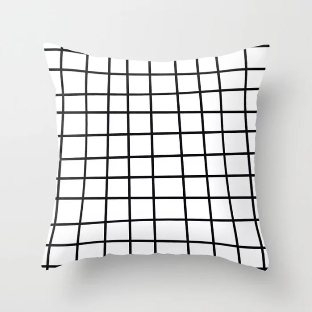 Spoiled Grid Throw Pillow by Bitart