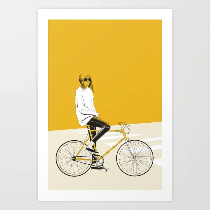 Sunday's Society6 | Color block drawing art print