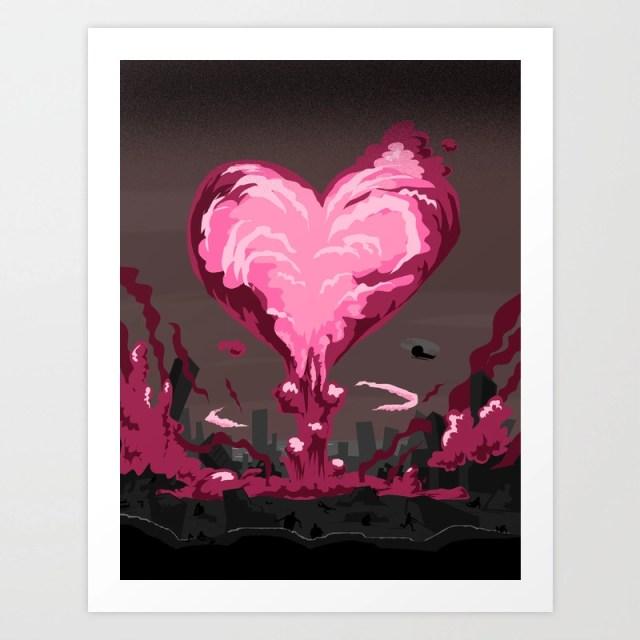 Love Explosion Art Print by davidkantrowitz | Society6