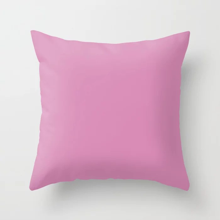 Dark Pink Purple Solid Color Behr 2021 Color of the Year Accent Shade High Maintenance P120-3 Throw Pillow