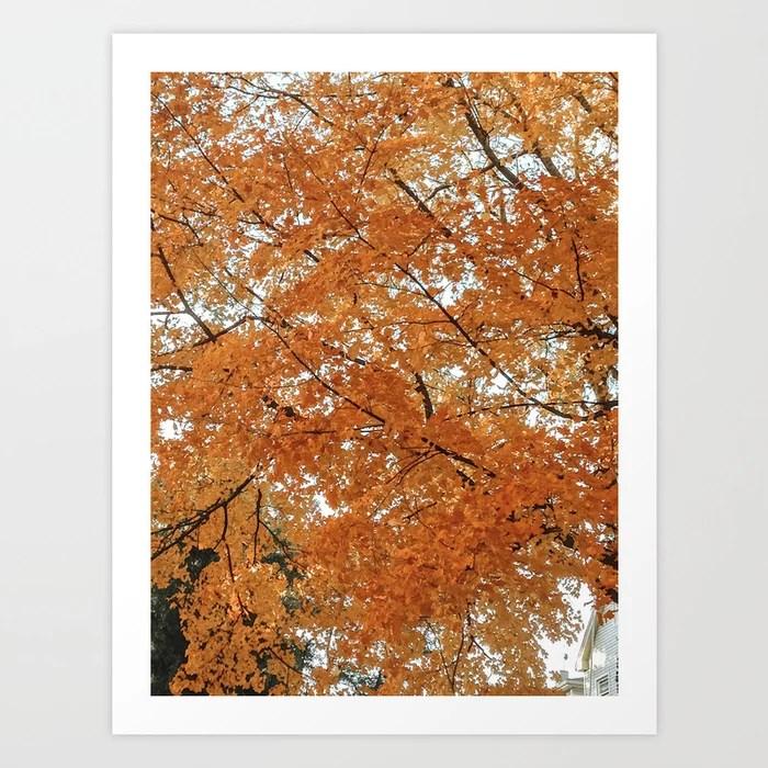 """Autumn Leaves"" Art Print | Dreamery Events || Society6"
