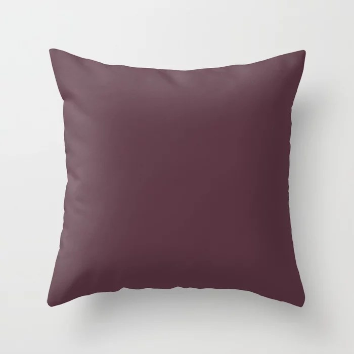 Deep Amethyst Purple Solid Color Throw Pillows inspired by and pairs to (matches / coordinates with) Graham and Brown 2021 Color of the Year Epoch
