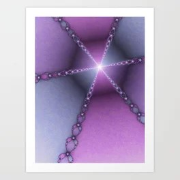 The Journey To The Light, Modern Fractal Art Graphic Art Print