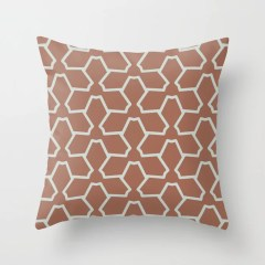 Mint Green and Terracotta Tessellation Pattern 12 Behr 2022 Color of the Year Breezeway MQ3-21 Throw Pillow. 2022 color scheme, trending interior design hue.