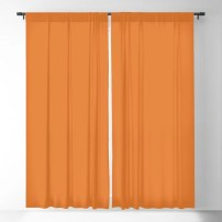 Russet Orange | Pantone Fashion Color | Fall : Winter 2018 | New York and London | Solid Color | Blackout Curtain