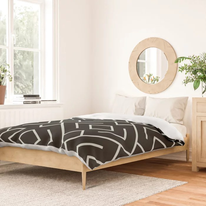 Pastel Green and Black Shape Mosaic Pattern 4 Pairs Behr 2022 Color of the Year Breezeway MQ3-21 Duvet Cover. 2022 trending colors