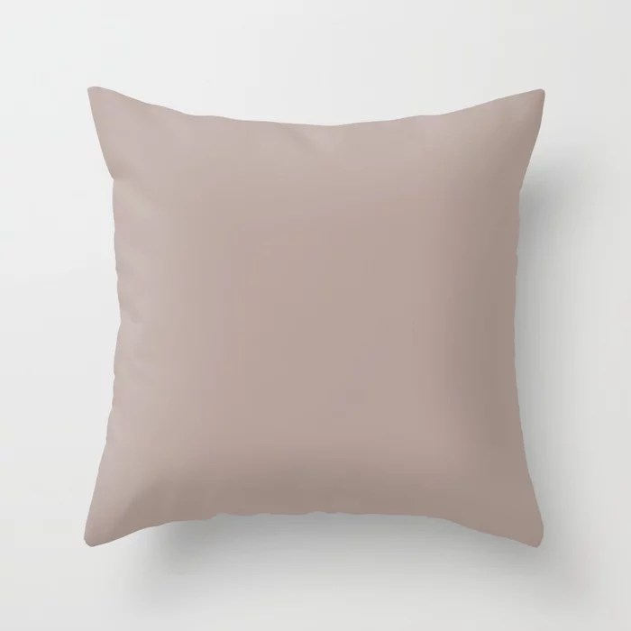 Mauve Rose Pink Solid Color Pairs with Sherwin Williams Mantra 2020 Forecast colors Glamour SW6031 Throw Pillow