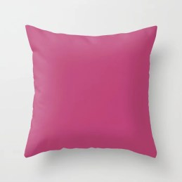 Solid Color Dark Pink Pairs to Pantone 17-2227 Lilac Rose Throw Pillow