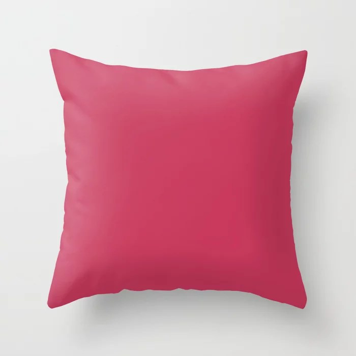 From The Crayon Box – Maroon Pink - Dark Pink Solid Color Throw Pillow