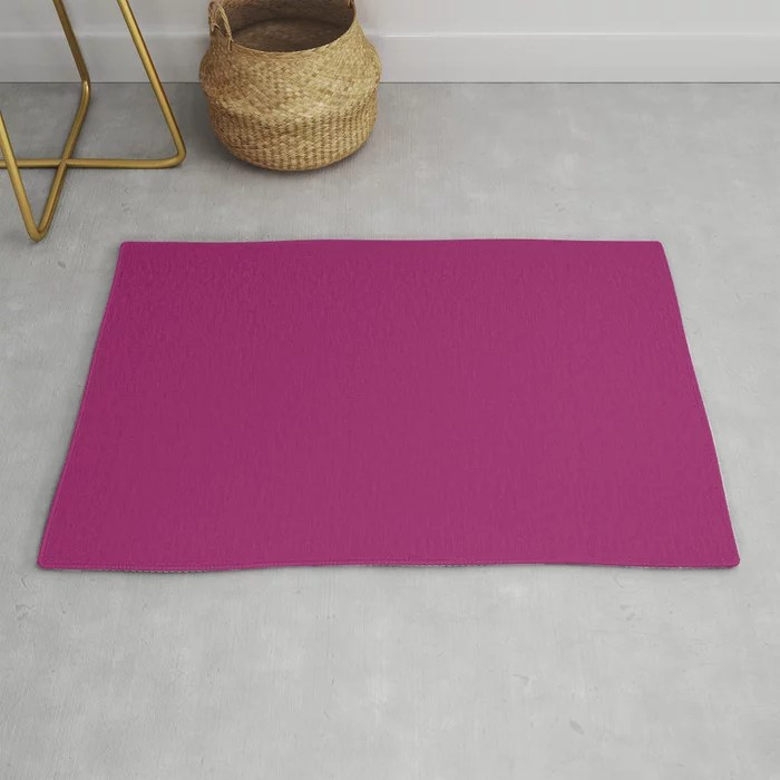Orchid Flower Deep Pink Purple Solid Color 2022 Colour of the Year Rug. 2022 color trend - color scheme