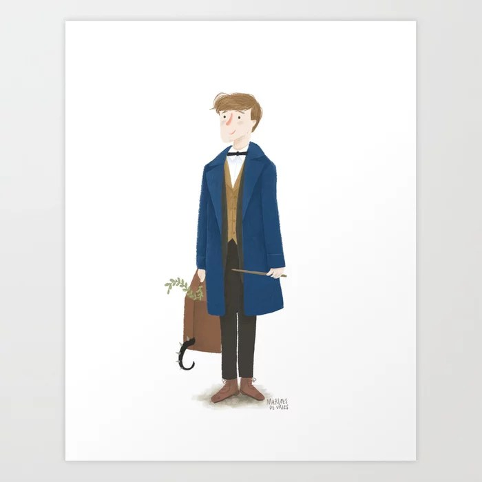 Sunday's Society6 | Illustration Newt Scamander, Fantastic Beasts and where to find them